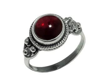 GAIA Red Garnet 925 sterling silver ring