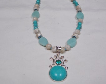Hand made one of a kind Necklace W/ Turquoise