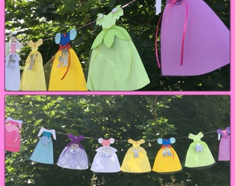 Princess Dress Name Banner made with tulle.