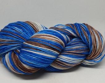 DK Super Wash Wool Hand-dyed Yarn Blue Bird