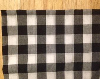 """Custom Pillow Cover Black White Gingham 14"""""""