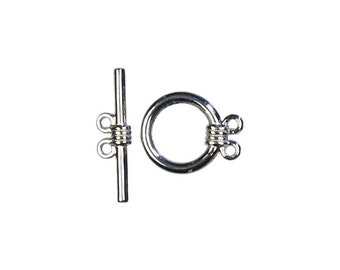 2 Strand Toggle Silver 8 sets per package.