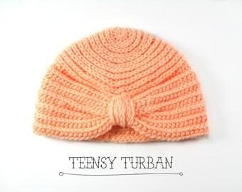 Teensy Turban>>Crochet Baby Turban>>Baby Hat>>TBT001