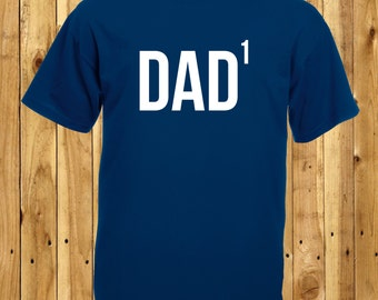 Dad Of One, First Time Dad, Fathers Day Gift, Dad To The Power Of One, Math Geek T-Shirt, One Child T-Shirt, Single Kid Dad