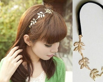 Olive Leaf Elastic Head Hair Band Headband