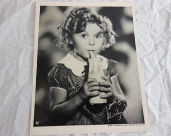 1937 Shirley Temple Promo Photo for Dietsch Dairy Co - Rare