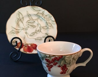 Summer Grove by Charter Club Footed Cup & Saucer Set
