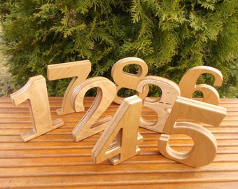 """0 - 9 5"""" numbers, training aid, free standing numbers, photo props, table decoration, table numbers, game"""