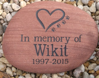 Custom Engraved Pet Memorial - Engraved Rock, Stone, Dog, Cat, namesake, etched rock, etched stone, Sandblast