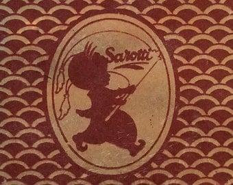 Sarotti Berlin, Small Hinged Tin / Sarotti-Mohr / German Chocolate Tin 28gr. / Collectible Tins / German Tins/ Sarotti Chocolates