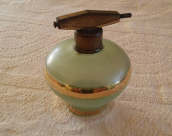 Vintage Perfume Bottle with Gold Stripes Pleasant Vintage Glass Bottle Antique Perfume Bottle