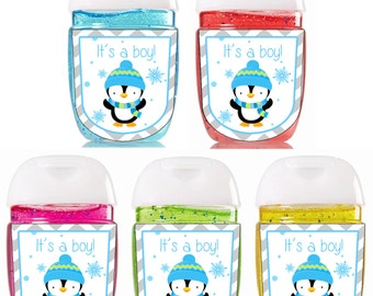 New Hand Sanitizer label / Pocketbac Bath and Body Works sanitizer / Baby Shower Favors / Bath and Body Works Sanitizer / Sanitizer Labels