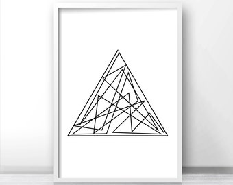 Digital Download Print, Geometric Art Print, Minimalist Art, Instant Download Printable Wall Art, Modern Wall Art, Minimalist Home Decor Art