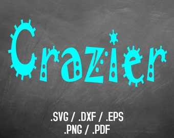 Crazier Cartoon Font Design Files For Use With Your Silhouette Studio Software, DXF Files, SVG Font, EPS Files, Svg File, Cartoon Silhouette