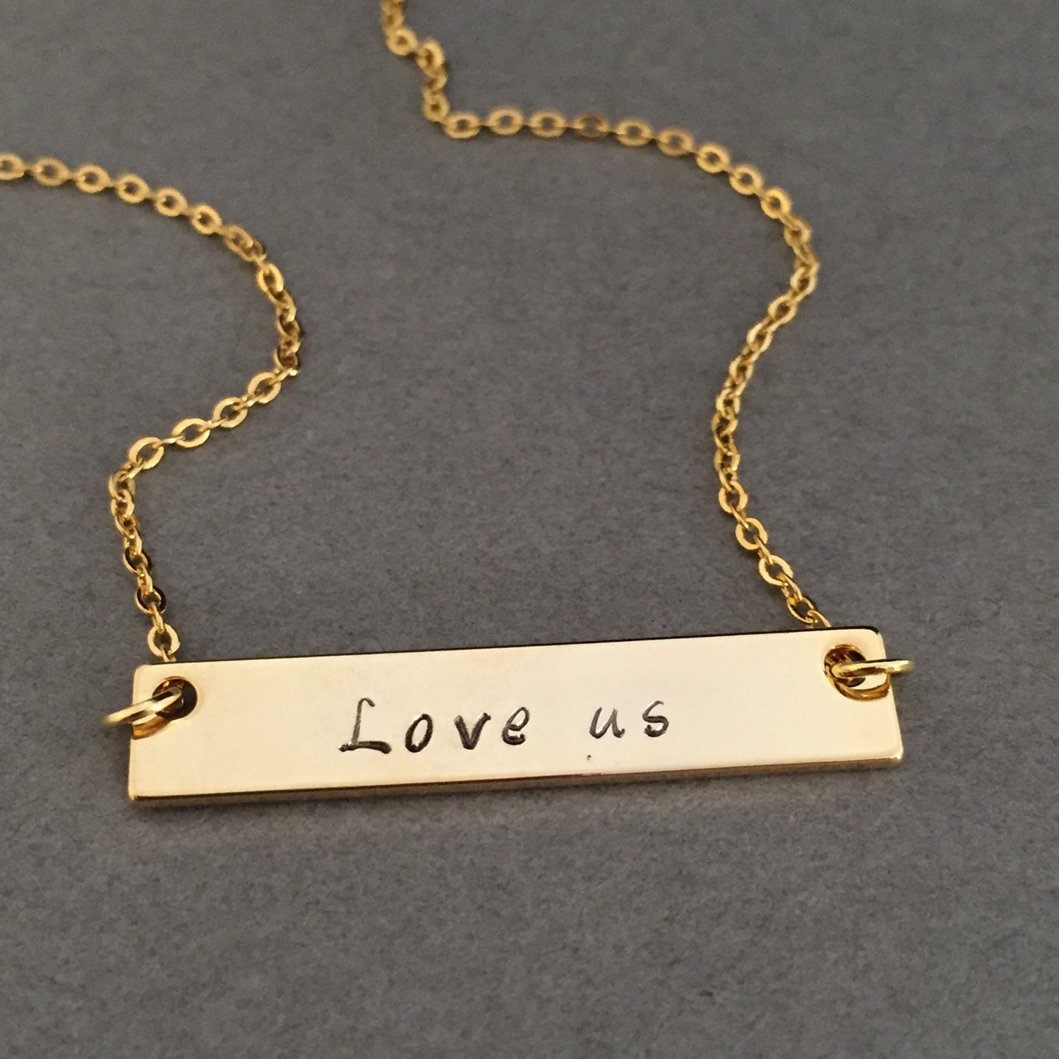 gold bar necklace personalized necklace name necklace