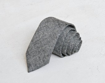 Hunter Grey Wool Necktie