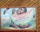 Framed Chicago Tea Co. Advertising Card