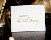 Happy Birthday Gold Foil Greeting Card