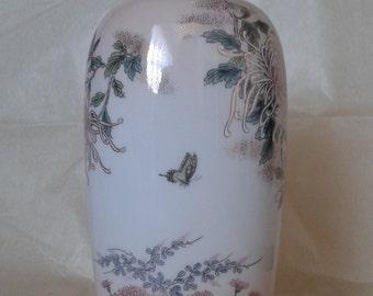 A floral Japanese ceramic vase (St Michael / Marks and Spencer)