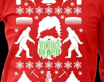 Ugly Christmas Sweater, Yukons Beard, Funny Gift for Him