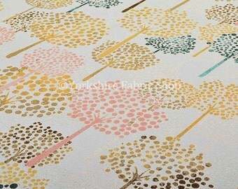 10 Metres Of Quality Woven Jacquard Upholstery Fabric Multicolour White Yellow Pink Blue Tree Pattern For Sofas Curtains Home Furnishings