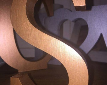 Gold letters 20cm large letters large gold letters gold for Standing wood letters to paint