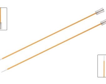 KnitPro Zing, single pointed knitting needles, 30cm / 12 inches, all diameters, Knitters Pride Zing.