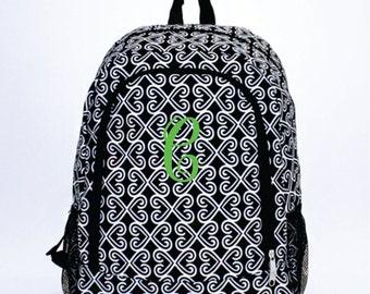 Monogram Backpack Black Twist