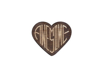 Awesome Laser Cut Lapel Pin