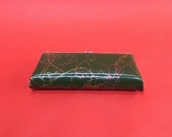 Vintage Vinyl Eyeglass Case with snap. Eyeglass Case