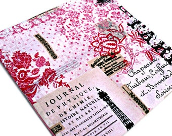 Paris Burp Cloth // Baby Girl Burp Cloth // Pink and White Burp Cloth