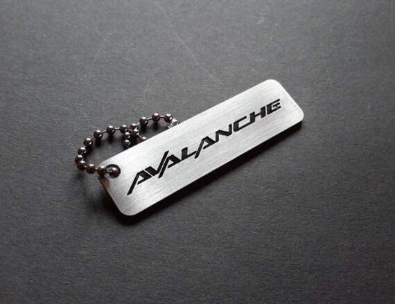 Chevrolet Avalanche keychain key tag