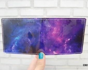 Vinyl Wallet - NASA Photograph - Hubble Space - Handmade