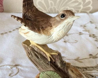 "Delightful Wedgwood Porcelain Bird Ornament. Made in England. 4 1/4"" high"