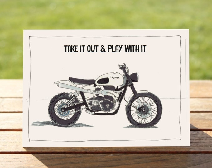 "Motorcycle Gift Card - Triumph Scrambler | A6 - 6"" x 4"" 