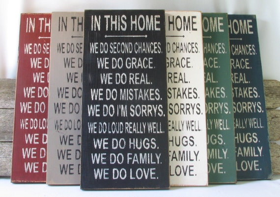 In This Home Wooden Sign