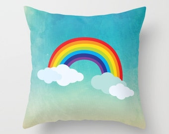 Nursery Pillow , Nursery Room Decor , nursery decor , Rainbow Pillow , Decorative children's pillow ,  kids Pillow , kids Cushion