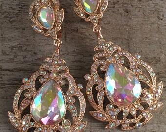 Pear{{Sophia}} Drop earrings