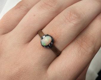Ethiopian Welo Opal adjustable Ring