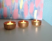 Set of 3 Tealight Candle Holders