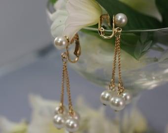 Vintage Coventry Dangling Faux Pearl Earrings