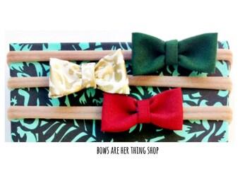 HOLIDAY GLAM mini bow set