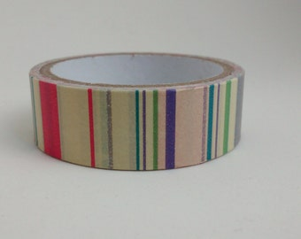 Stripes pattern Washi  tape 5 m/16.4 ft crafting tape washi tape decorative cardmaking tape scrapbook tape colour stripes washi