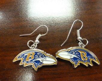 Ravens Inspired Earrings