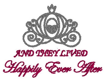 Happily Ever After Embroidery Pattern