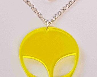 Alien head Necklace - Acrylic