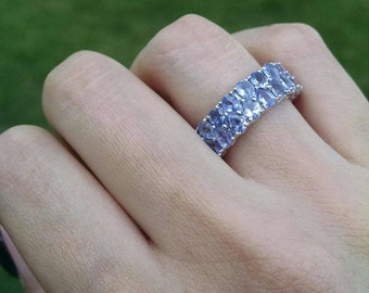 Tanzanite Eternity Ring 4.80 cts