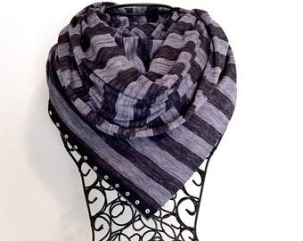 Black and Gray Stripe Vinyasa