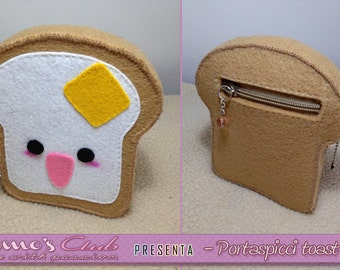 Portaspicci/toast felt coin purse