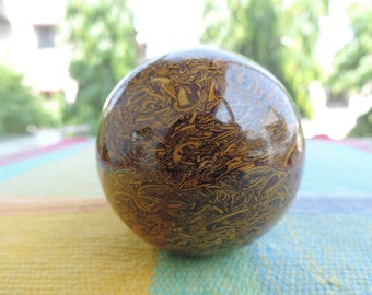 Leopard Skin Jasper hand carved Sphere